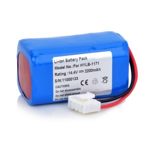 LSM-HLYB-1171 HYLB-1171 ZQ-1206 EDANINS ECG-6A ECG-2203B 4 CELL CHINA MADE MADE CELLS 14.4VOLTS 2600MAH BLUE REPLACEMENT ECG MEDICAL DEVICE BATTERY 1